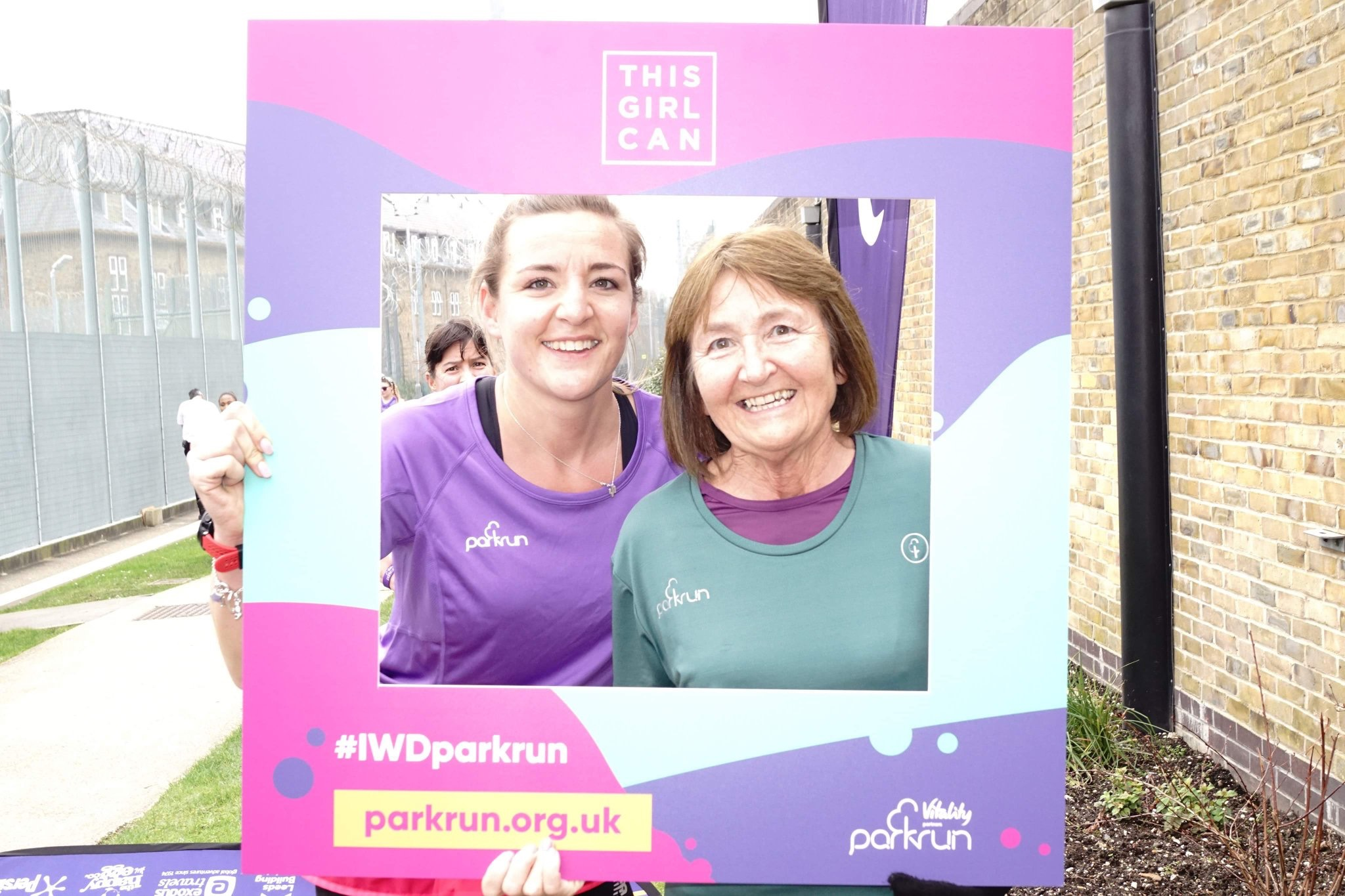 Cam and Jacquie at HMP Downview parkrun